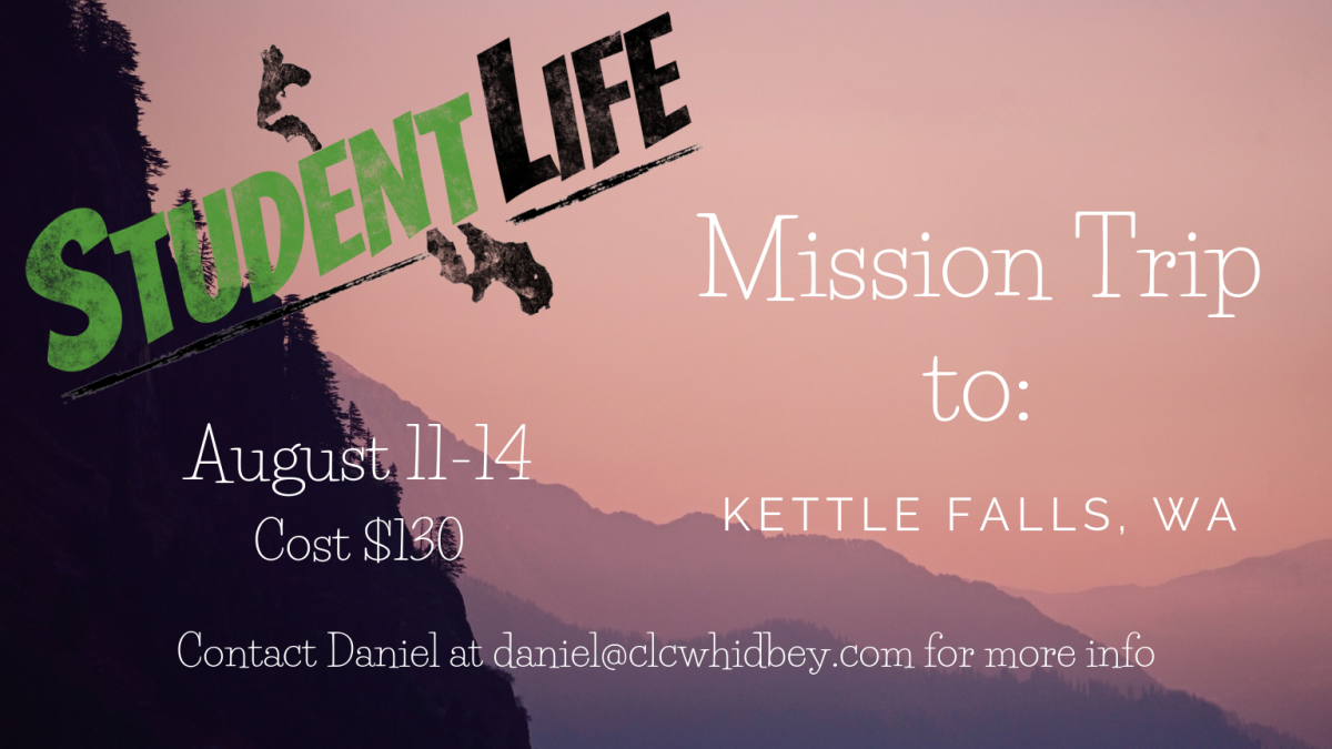 Studentlife Event: Kettle Falls Mission Trip